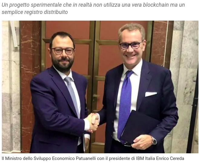 blockchain italiana